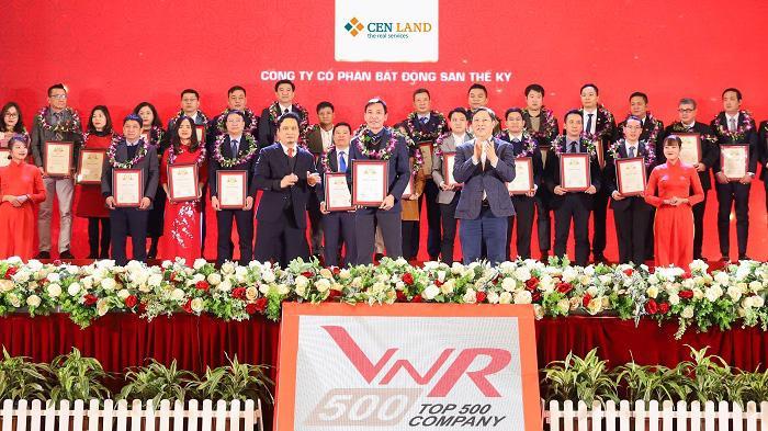 Cen Land được vinh danh Top 500 công ty lớn nhất Việt Nam năm 2020.