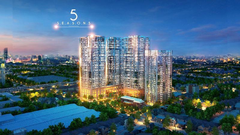 Là dự án cao cấp nhưng giá bán căn hộ 5 Seasons hiện tại trong khoảng từ 1,6 tỷ đồng.