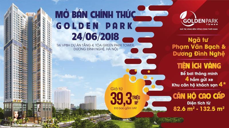 Kể từ khi chưa ra mắt, dự án Golden Park Tower đã thu hút được sự chú ý của đông đảo khách hàng khi sở hữu những ưu thế về vị trí, thiết kế, tiện ích.