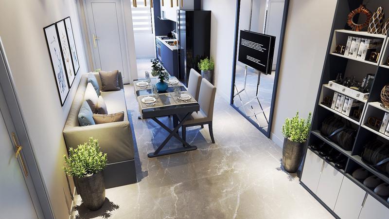 Nhiều dự án căn hộ xây dựng theo mô hình hometel đã xuất hiện, đơn cử như dự án FLC Green Apartment.