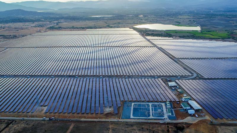 Toàn cảnh dự án nhà máy điện mặt trời BIM 2.