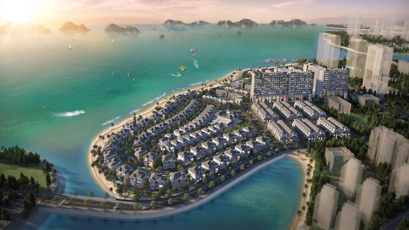 Toàn cảnh dự án Grand Bay Halong do BIM Land làm chủ đầu tư.