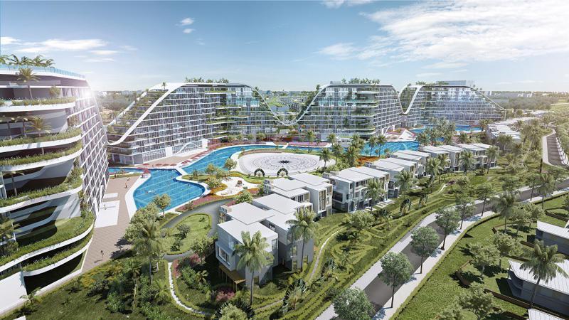 The Coastal Hill tại Quy Nhơn, một dự án đang theo đuổi định hướng công trình xanh.