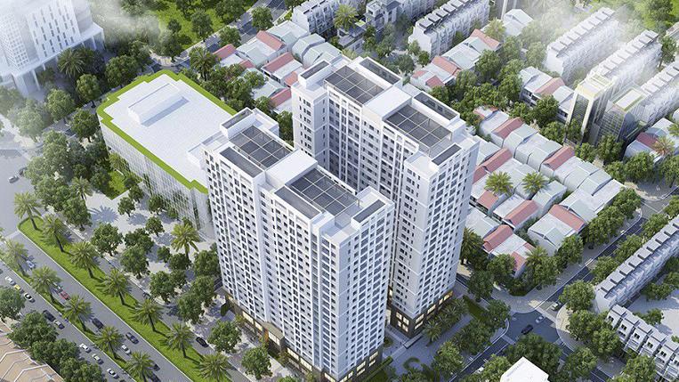 Dự án @Home có mật độ xây dựng chỉ 38,8%.