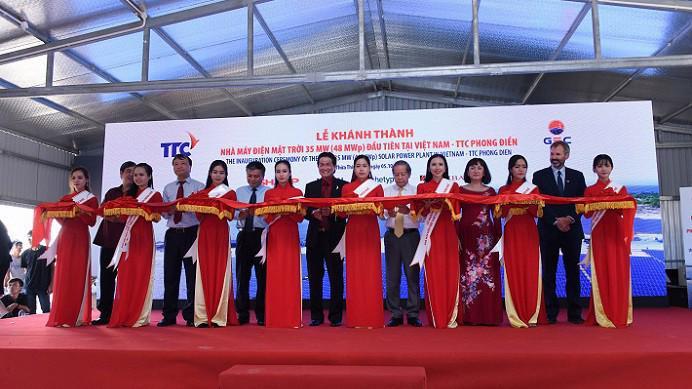 Sau 9 tháng thi công xây dựng và lắp đặt thiết bị, Nhà máy điện mặt trời TTC Phong Điền đã chính thức đi vào hoạt động và sẽ phát điện với sản lượng khoảng 60 triệu kWh/năm.