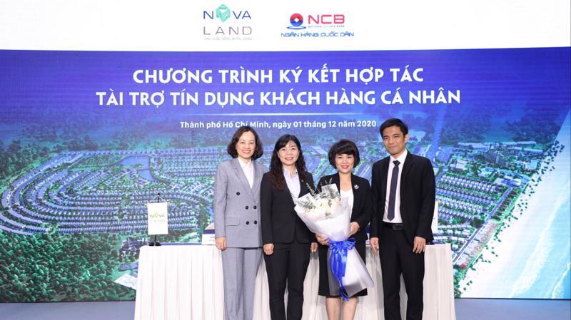 Đại diện NCB và Novaland ký kết hợp tác tài trợ tín dụng khách hàng cá nhân.