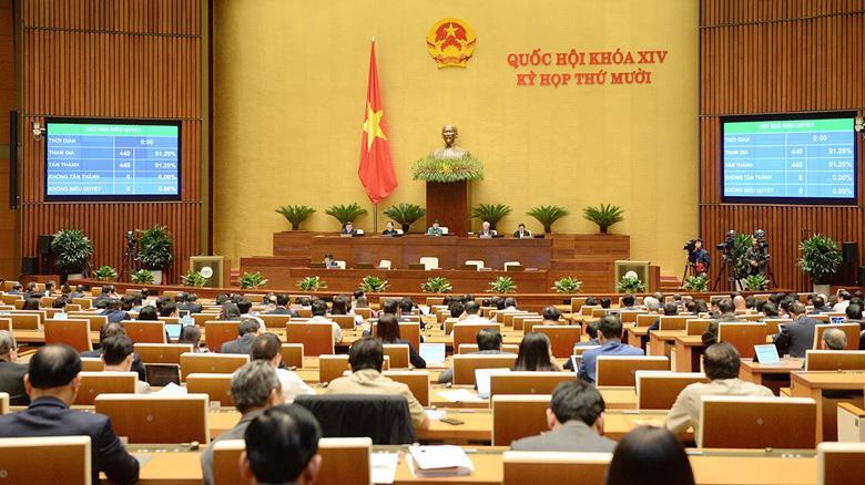 Năm 2020, tại Kỳ họp thứ 10, Quốc hội đã thông qua 17 luật với tỷ lệ đại biểu tán thành cao - Ảnh: Quochoi.vn