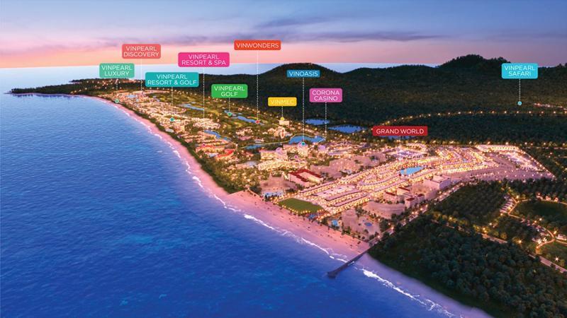 """Grand World - thành phố """"tất cả trong một"""" cho du khách từ nghỉ dưỡng, mua sắm, ăn chơi, giải trí 24/7."""
