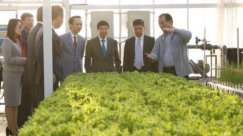 Ông Masayuki Iwai, Chủ tịch của Farmdo giới thiệu các công nghệ cao của nông nghiệp Nhật Bản.