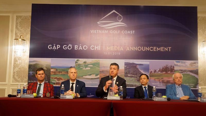 Buổi ra mắt Vietnam Golf Coast được tổ chức tại BRG Đà Nẵng Golf Resort.