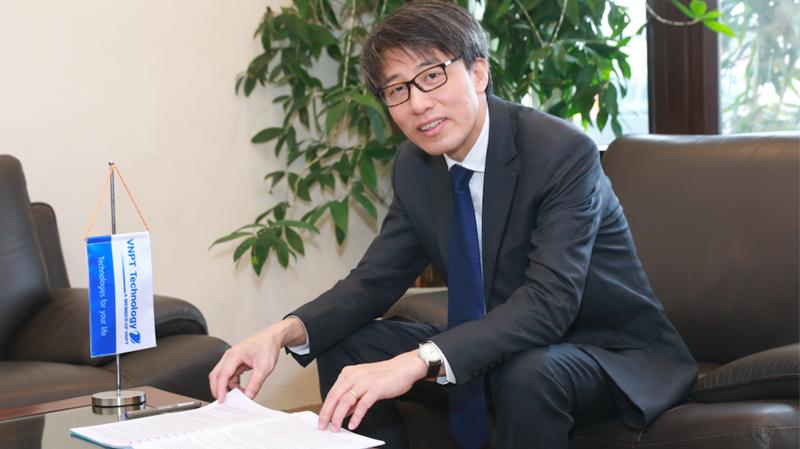 Tổng giám đốc Công ty VNPT Technology Trần Hữu Quyền.