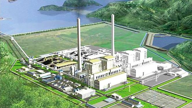 Phối cảnh tổng thể dự án Nhà máy nhiệt điện Quảng Trạch 1.