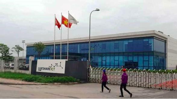 Trụ sở Công ty TNHH Luxshare-ICT Việt Nam tại KCN Quang Châu.