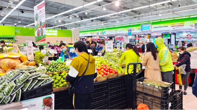 Bộ Công Thương chỉ đạo các chuỗi siêu thị lớn phải đảm bảo hàng hóa thiết yếu để phục vụ người dân trong mọi tình huống - ảnh minh họa.