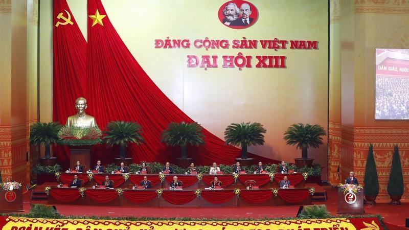 Đại hội đại biểu toàn quốc lần thứ XIII của Đảng khai mạc trọng thể tại Trung tâm Hội nghị Quốc gia Mỹ Đình, Hà Nội.