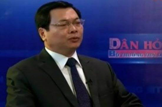 """Bộ trưởng Bộ Công Thương Vũ Huy Hoàng trong chương trình """"Dân hỏi - Bộ trưởng trả lời"""""""