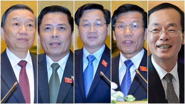 5 vị được dự kiến sẽ trả lời chất vấn tại kỳ họp này của Quốc hội.