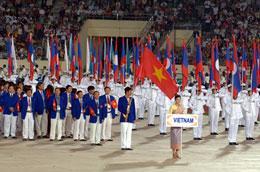 Đoàn vận động viên Việt Nam tại SEA Games 25.
