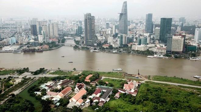 Một góc khu đô thị mới Thủ Thiêm, Tp.HCM.