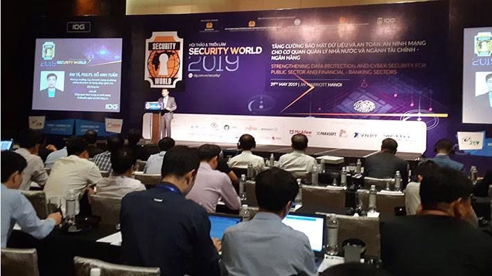 Hội thảo về An ninh Bảo mật 2019 (Security World 2019) diễn ra ngày 29/5, tại Hà Nội.