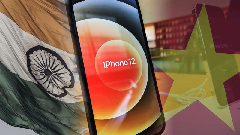 Việt Nam và Ấn Độ là hai điểm đến chính trong chiến lược đa dạng hóa sản xuất của Apple - Ảnh: Reuters
