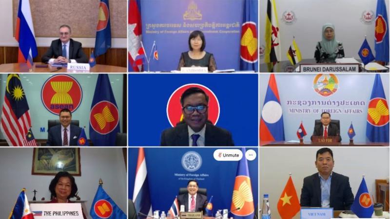 Cuộc họp Quan chức Cao cấp (SOM) ASEAN - Nga ngày 26/1 - Ảnh: Bộ Ngoại giao