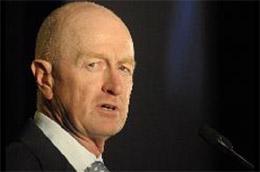 Ông Glenn Stevens, Thống đốc Ngân hàng Trung ương Australia - Ảnh: Bloomberg.