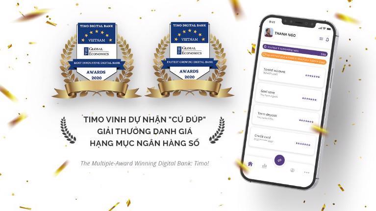 """Trong năm 2020 Timo được công nhận là Ngân hàng số phát triển nhanh nhất và sáng tạo nhất do Global Economics trao tặng. 2 năm liên tiếp 2019 - 2020 nhận giải Ngân hàng số tốt nhất Việt Nam từ Asiamoney. Tuy nhiên mục tiêu mà tôi đề ra trong 10 năm tới là Timo phải trở thành một trong những ngân hàng tốt nhất Việt Nam."""""""