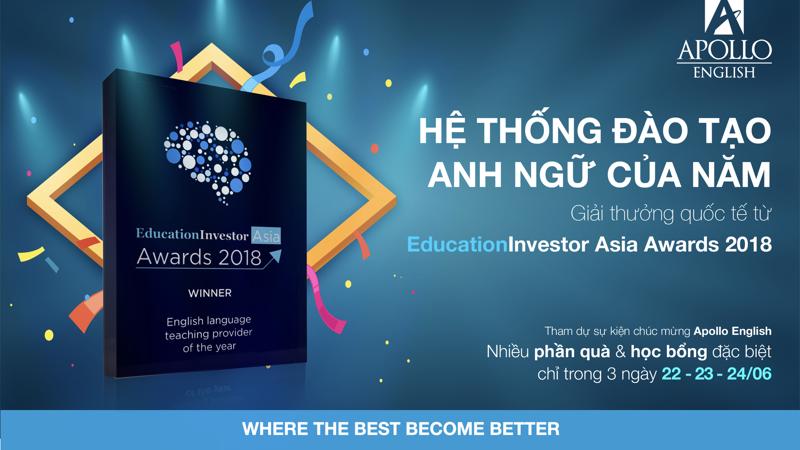 Điều này đánh dấu cột mốc quan trọng khi Apollo English trở thành Hệ thống đào tạo Anh ngữ nước ngoài đầu tiên tại Việt Nam sánh vai cùng các tổ chức giáo dục trong khu vực và trên thế giới.