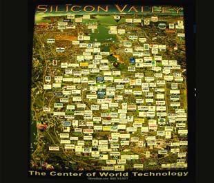 Bản đồ của Thung lũng Silicon có thể sẽ thay đổi sau khủng hoảng tài chính.