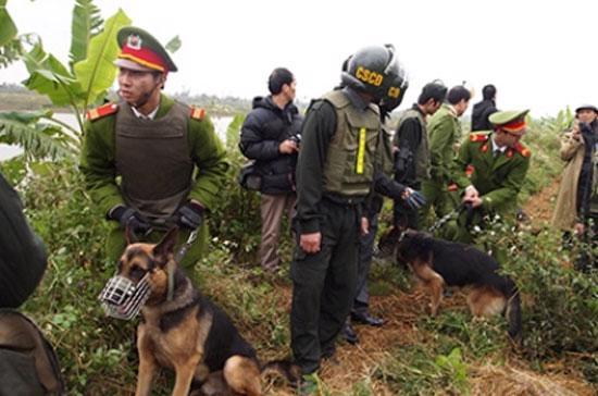 Lực lượng công an, quân sự đã được huy động rầm rộ vào một vụ cưỡng chế đất đai.