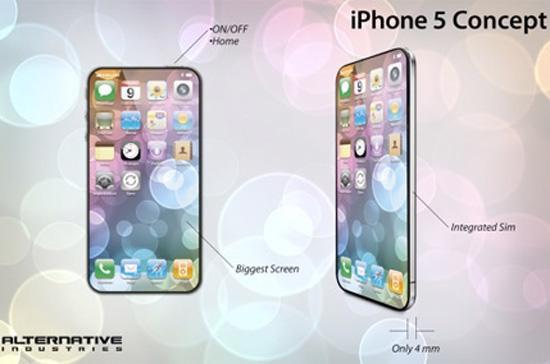 """Một trong những hình ảnh """"rò rỉ"""" về iPhone 5."""