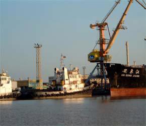 Một góc Cảng Hải Phòng hiện nay.