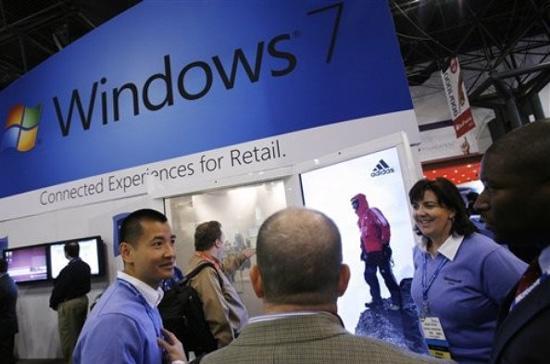 Windows 7 hiện là hệ điều hành bán chạy nhất của Microsoft - Ảnh: AP.