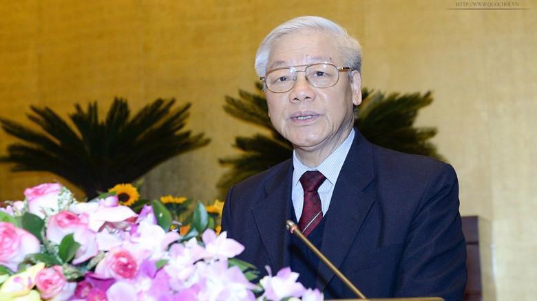 Tổng bí thư Nguyễn Phú Trọng được giới thiệu để Quốc hội bầu Chủ tịch nước.