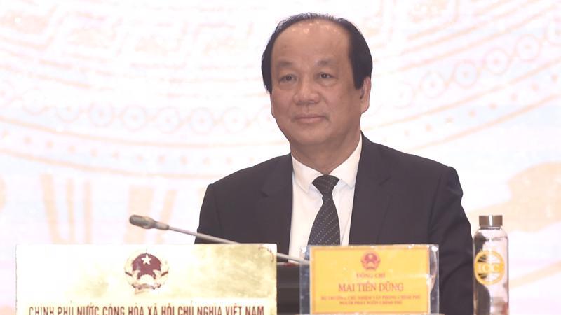 Bộ trưởng, Chủ nhiệm Văn phòng Chính phủ Mai Tiến Dũng tại họp báo chiều 2/3 - Ảnh: VGP