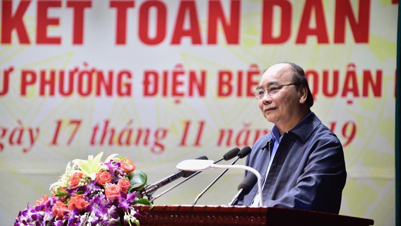 Thủ tướng Nguyễn Xuân Phúc phát biểu tại Ngày hội. - Ảnh: VGP