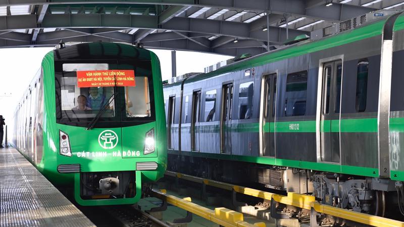 Tuyến đường sắt đô thị Cát Linh - Hà Đông hiện đã lỡ hẹn 8 lần - Ảnh: VGP.
