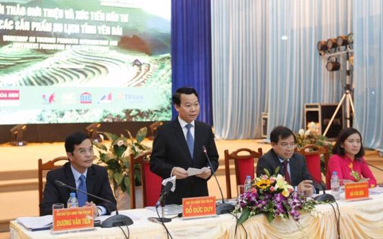 Chủ tịch Yên Bái Đỗ Đức Duy phát biểu tại hội thảo.