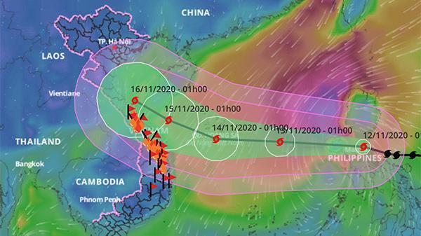 Diễn biến của bão còn rất phức tạp, hướng di chuyển không ổn định, cần theo dõi chặt chẽ, đề phòng bão đổi hướng, đổ bộ vào đất liền sớm hơn hoặc muộn hơn dự báo.