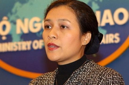 Người phát ngôn Bộ Ngoại giao Việt Nam, bà Nguyễn Phương Nga.
