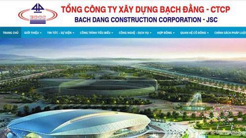 Trang web của Tổng công ty Xây dựng Bạch Đằng – CTCP.