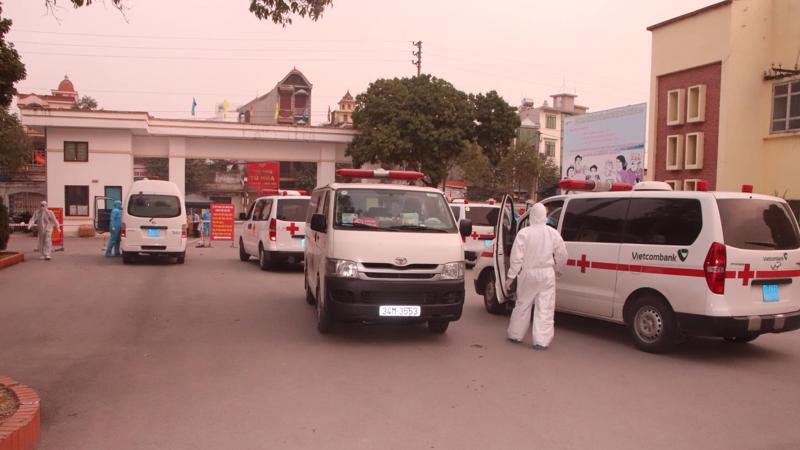 Bệnh viện dã chiến số 1 đặt tại Trung tâm Y tế Tp Chí Linh. Ảnh - Bộ Y tế.