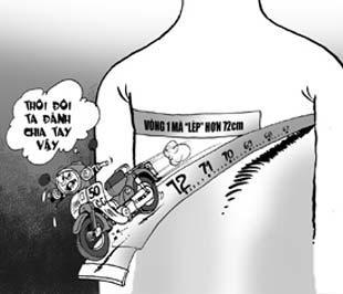 Người có vòng đo ngực trung bình dưới 72 cm có thể không được cấp bằng lái hạng A1.