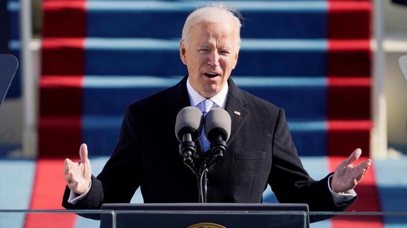 Ông Joe Biden nhậm chức tổng thống Mỹ ngày 20/1 - Ảnh: The National