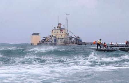 Đảo Đá Lớn thuộc quần đảo Trường Sa (Việt Nam) - Ảnh: Thanh Vũ/TTXVN.