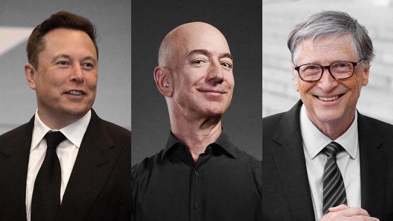 Từ trái sang phải: Elon Musk, Jeff Bezos và Bill Gates - Ảnh: Getty Images