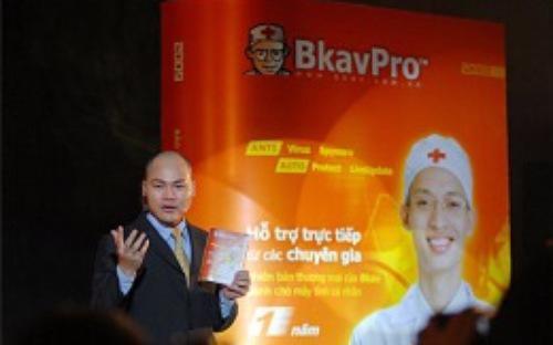 Tổng giám đốc Bkav Nguyễn Tử Quảng trong một dịp ra mắt sản phẩm phần mềm diệt virus.