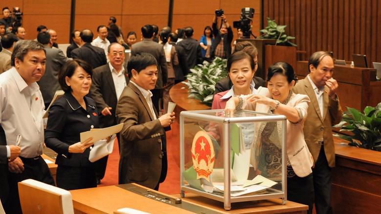 Việc lấy phiếu tín nhiệm đã được tiến hành từ Quốc hội khoá 13.