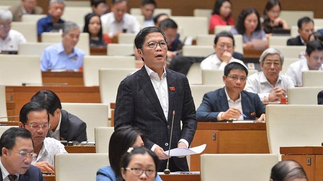 Bộ Trưởng Bộ Công Thương tại Quốc hội. Ảnh: Quochoi.vn
